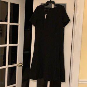 Black calf length work dress NWT.